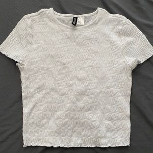 Cute H&M white crop tee
